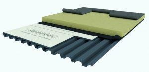 Dispunerea plăcilor AQUAPANEL Rooftop direct pe tabla cutată